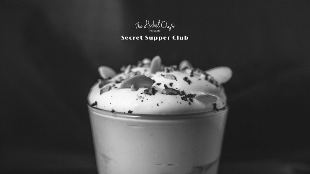 A delicious dessert from the Secret Supper Club.